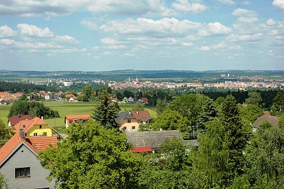 View from the tower to the city of Tábor